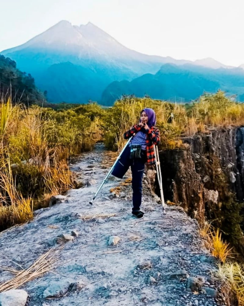 Arrohma Sukma di Gunung Merapi