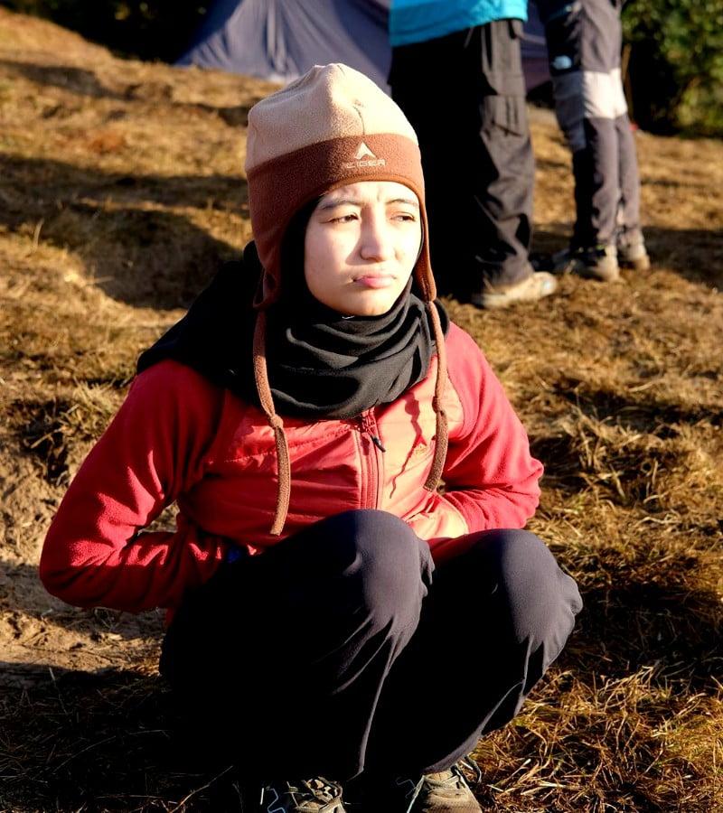 Kumpulan Foto Cantik Arafah Rianti Saat Mendaki Gunung