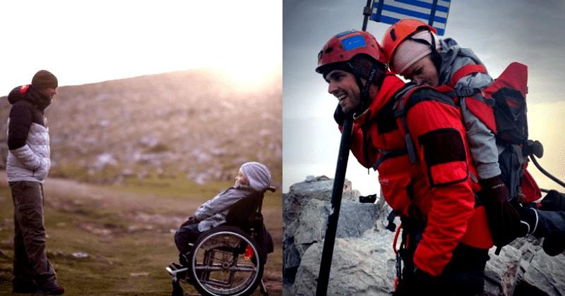 Kisah Marios, Gendong Teman Disabilitas ke Puncak Olympus