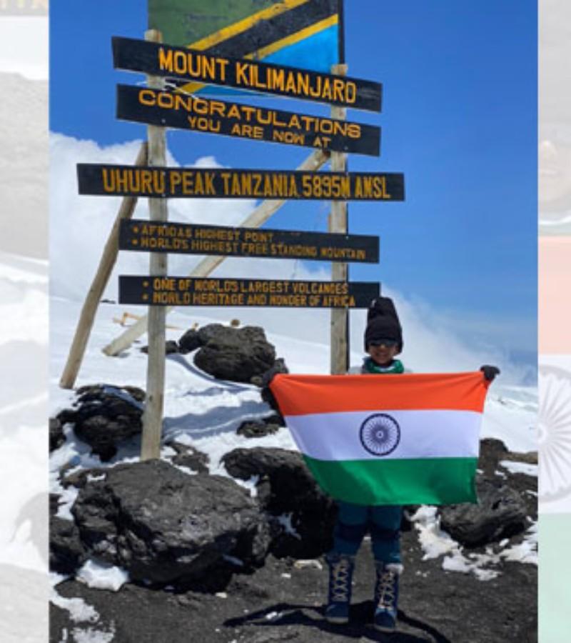 Bocah 7 Tahun Asal India Berhasil Taklukkan Gunung Kilimanjaro